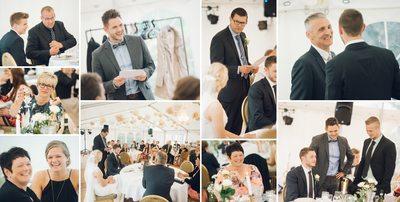 Bryllupsfotograf - collage fra talerne