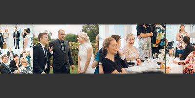 Bryllupsfotograf - grin og latter