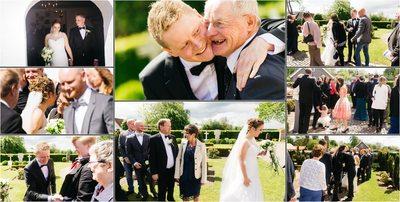 Bryllupsfotograf efter vielsen