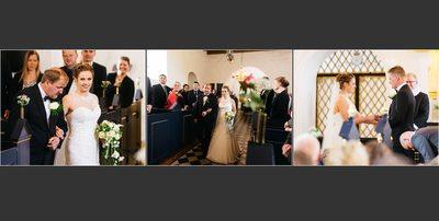 Bryllupsfotograf - kirkegulvet