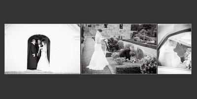 Bryllupsfotograf udenfor kirken