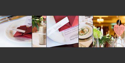 Bryllupsfotograf borddetaljer