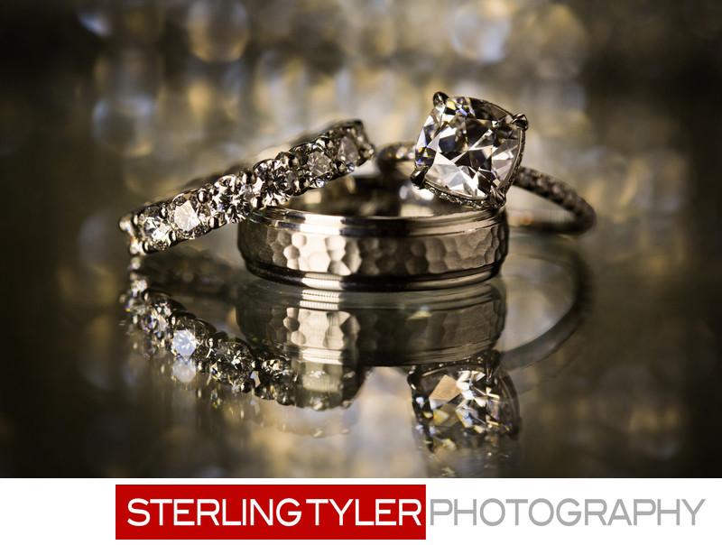 perfect cushion cut diamond wedding ring