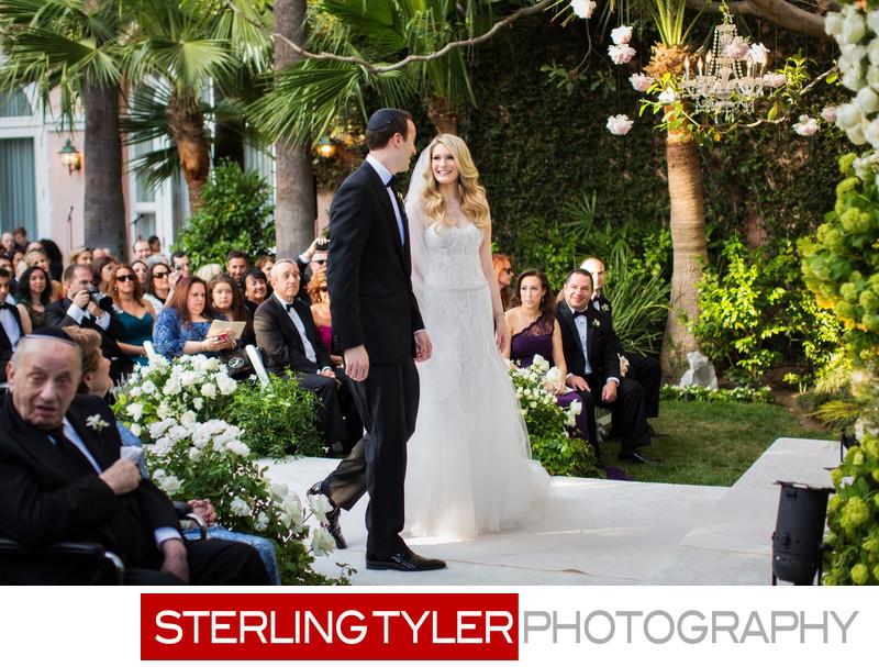 groom circles bride jewish custom beverly hills hotel