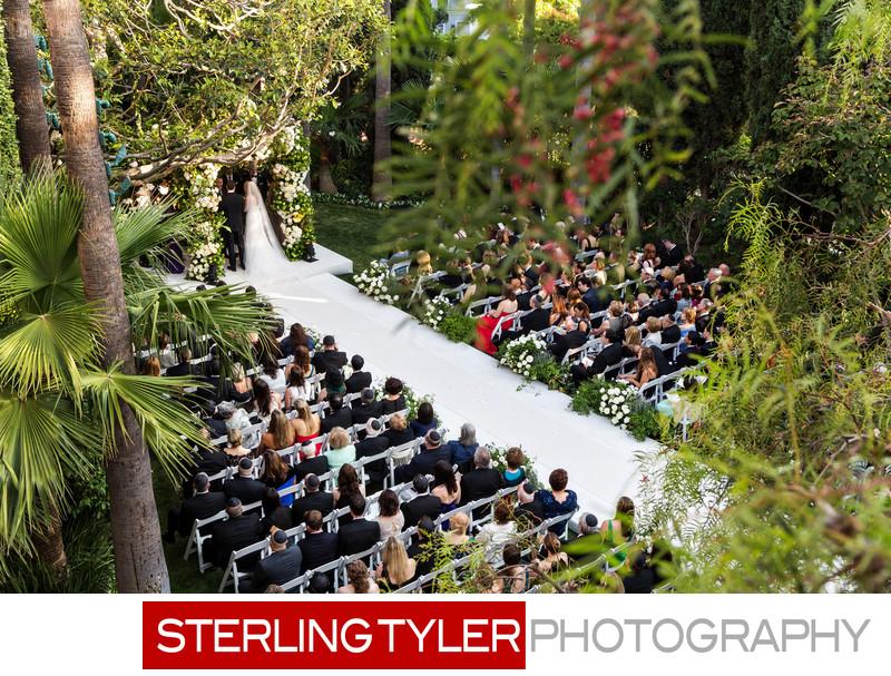 crystal garden beverly hills hotel wedding ceremony photographer