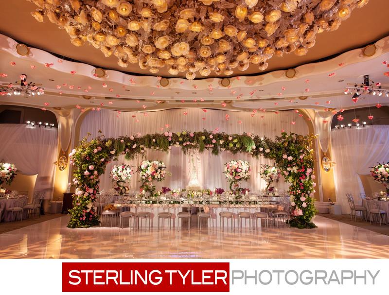 crystal ballroom marks garden wedding reception decor