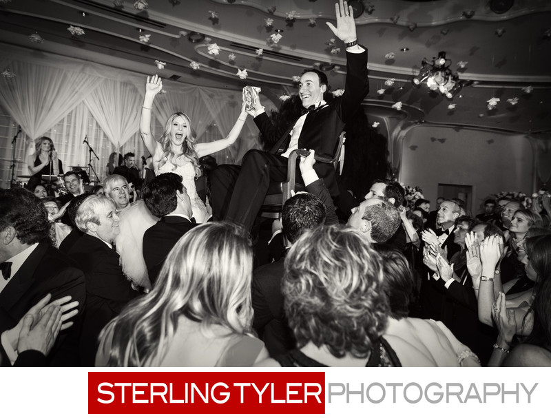 crystal ballroom jewish hora beverly hills wedding photographer
