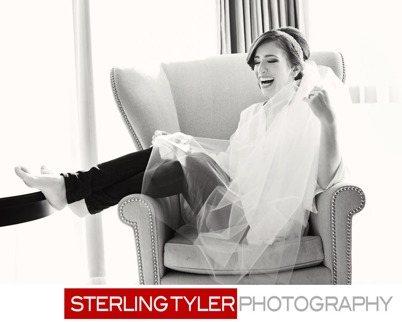 bride photojournalism candid photo at sheraton universal hotel