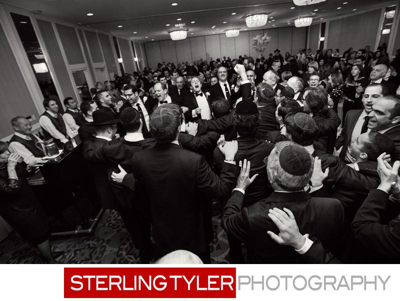 groom entering brides bedeken wedding photograph