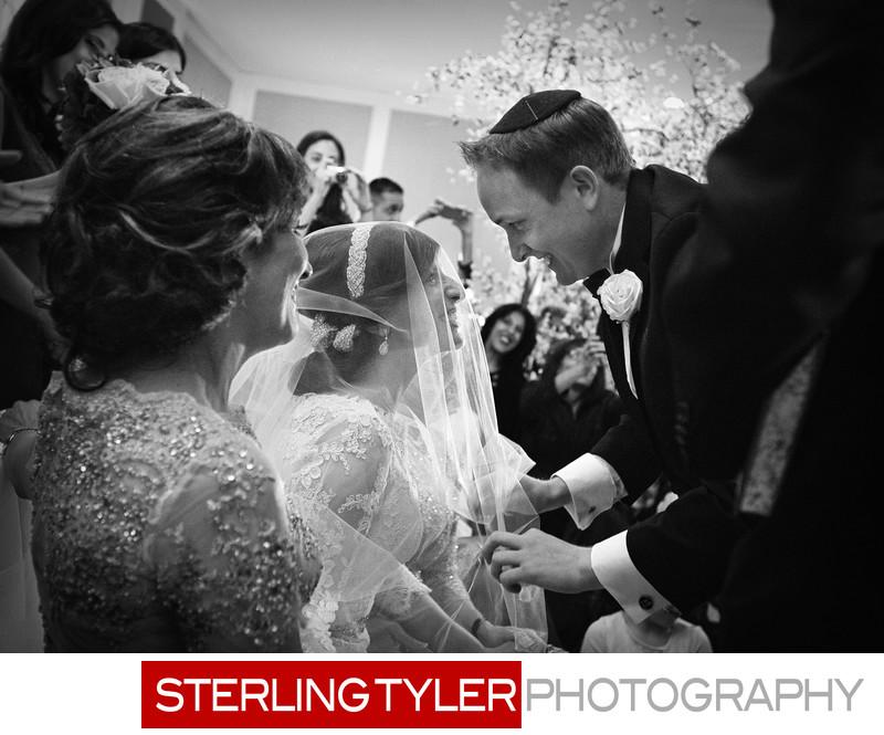 orthodox jewish bride veiled at bedeken photograph