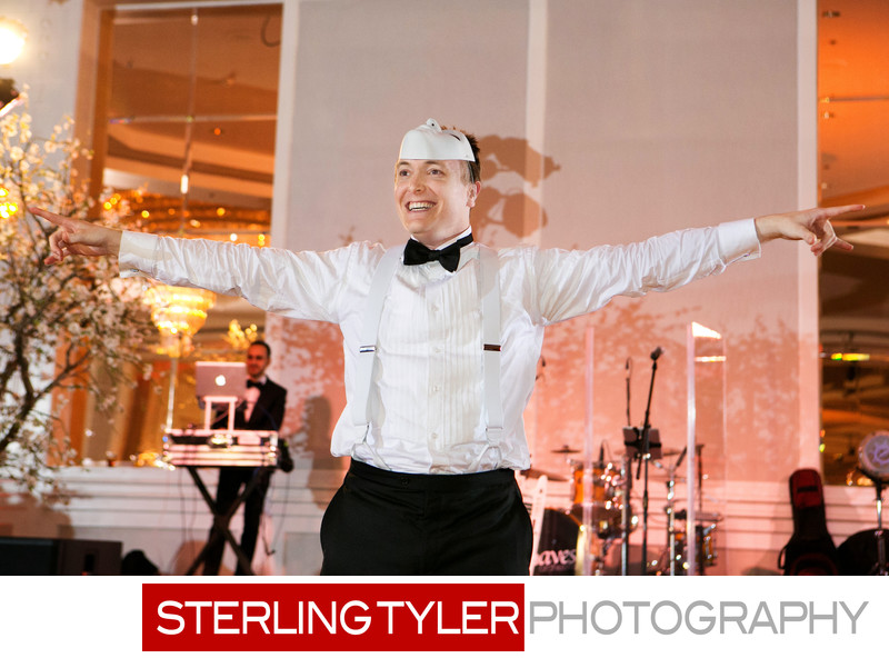 groom dancing sheraton universal hotel