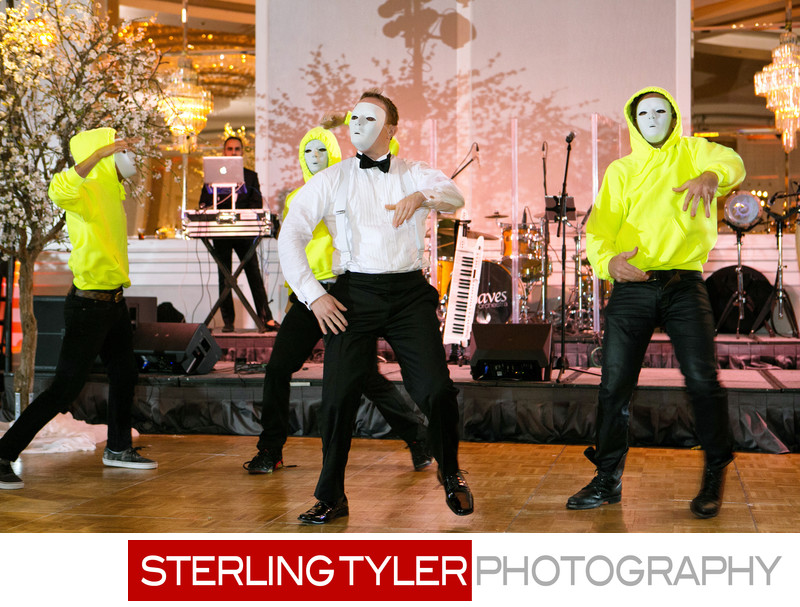 groom surprise dance flashmob sheraton universal