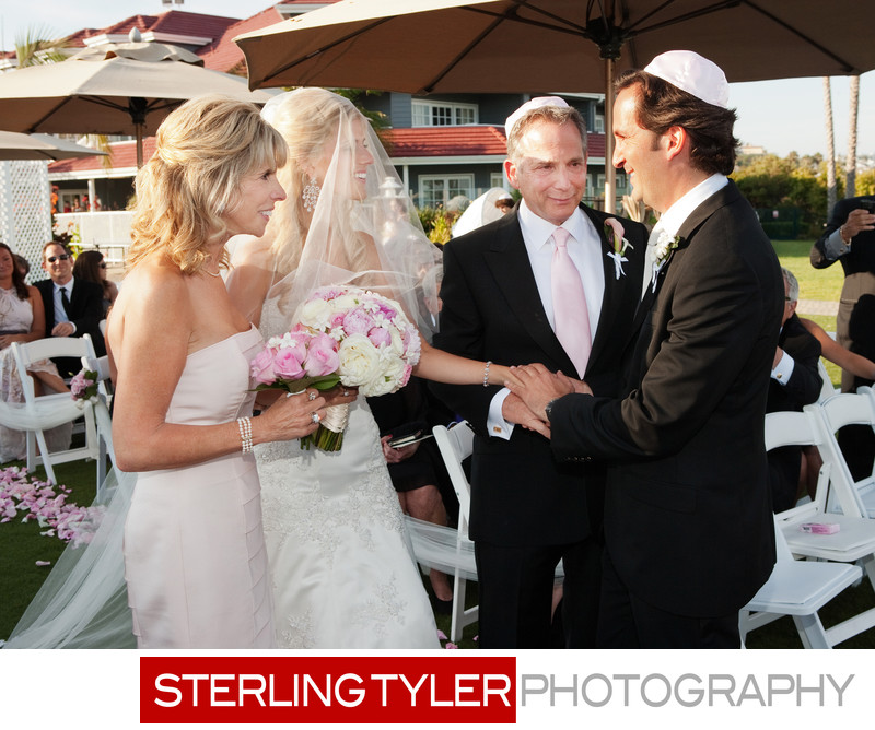 wedding ceremony at dana point marriott