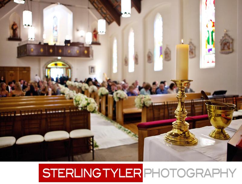 st helena catholic church napa valley wedding