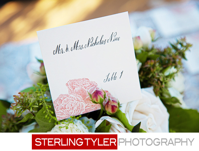 place card napa valley letterpress