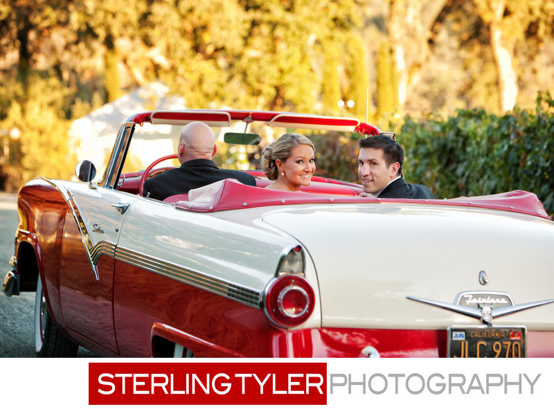 classic car wedding photograph napa valley