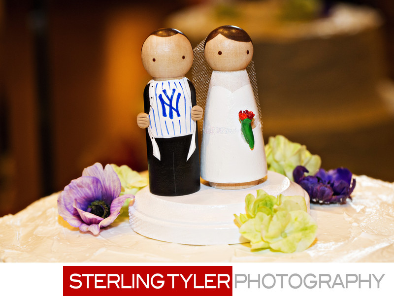 baseball themed wedding cake topper