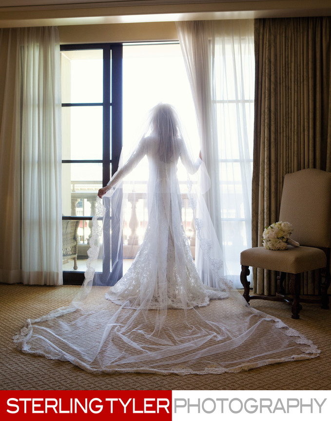 montage beverly hills bride with long veil