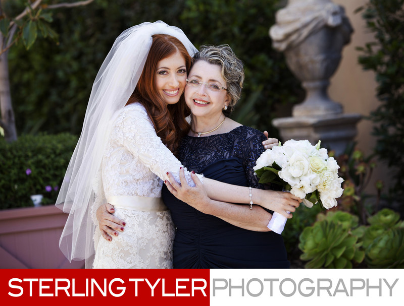 mother daughter bridal portrait in beverly hills