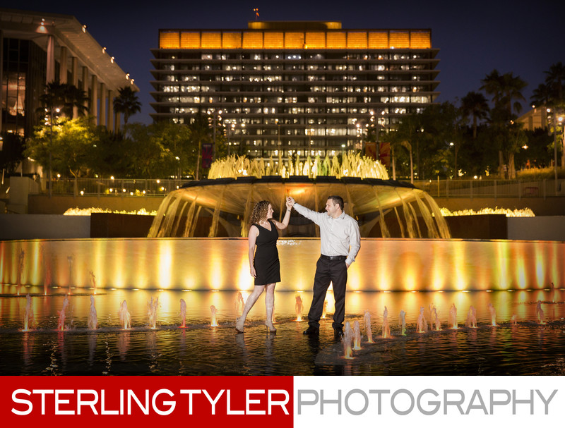downtown los angeles engagement photographer