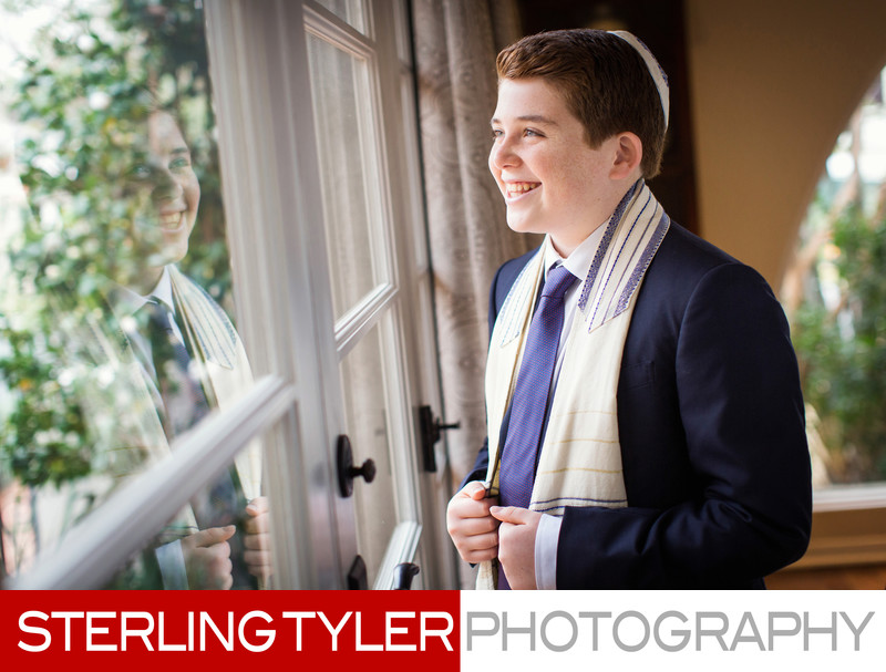 bar mitzvah with tallis los angeles photographer