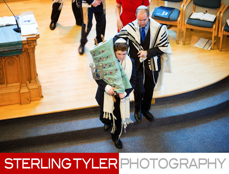 bar mitzvah marching torah wilshire blvd temple photo