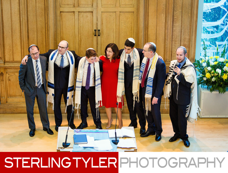 los angeles bar mitzvah family group photography