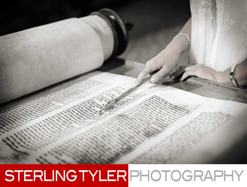 bat mitzvah photojournalism with torah and yad