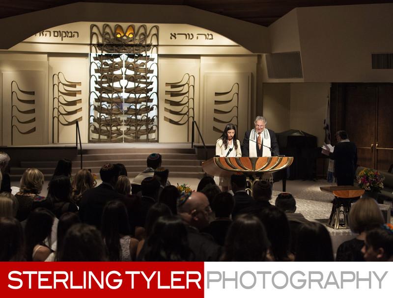 cantor nathan lam bat mitzvah service photograph