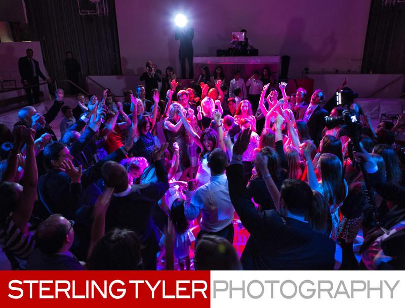 bat mitzvah party spotlight la lighting