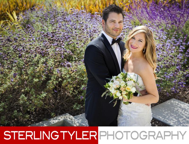 beverly hills garden wedding portrait los angeles photographer