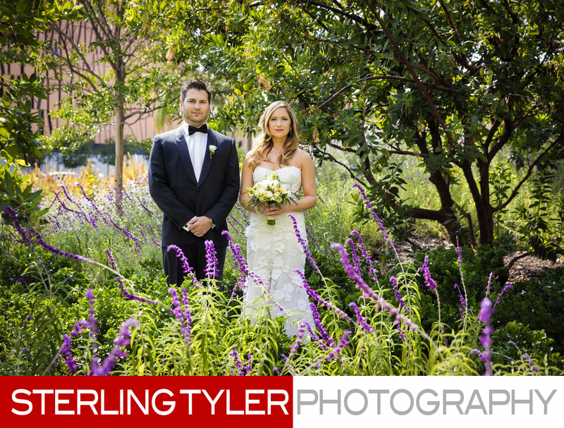garden wedding photography beverly hills city hall