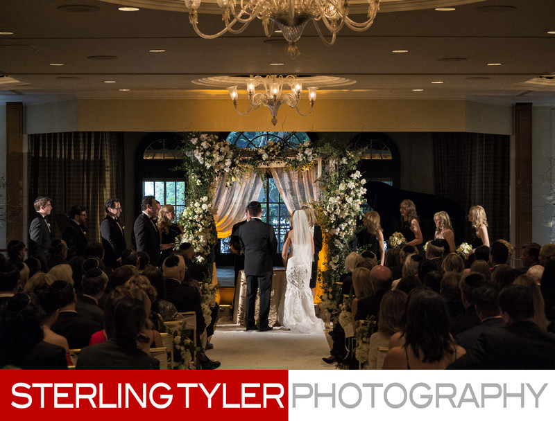 beverly hills indoor wedding chuppa jewish photographer