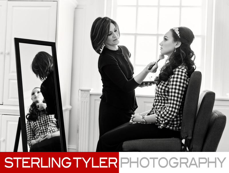 getting ready wedding photography by sterling tyler