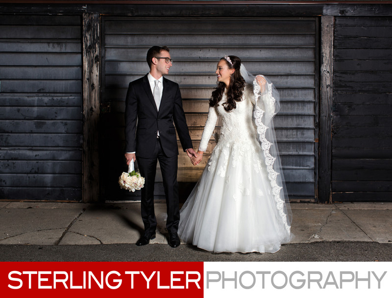 artistic creative portrait of bride and groom by sterling tyler