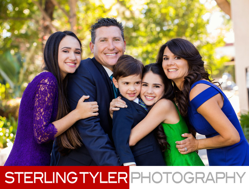 los angeles bat mitzvah family portrait