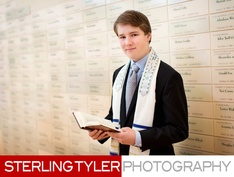 bar mitzvah with prayer book at kehillat israel