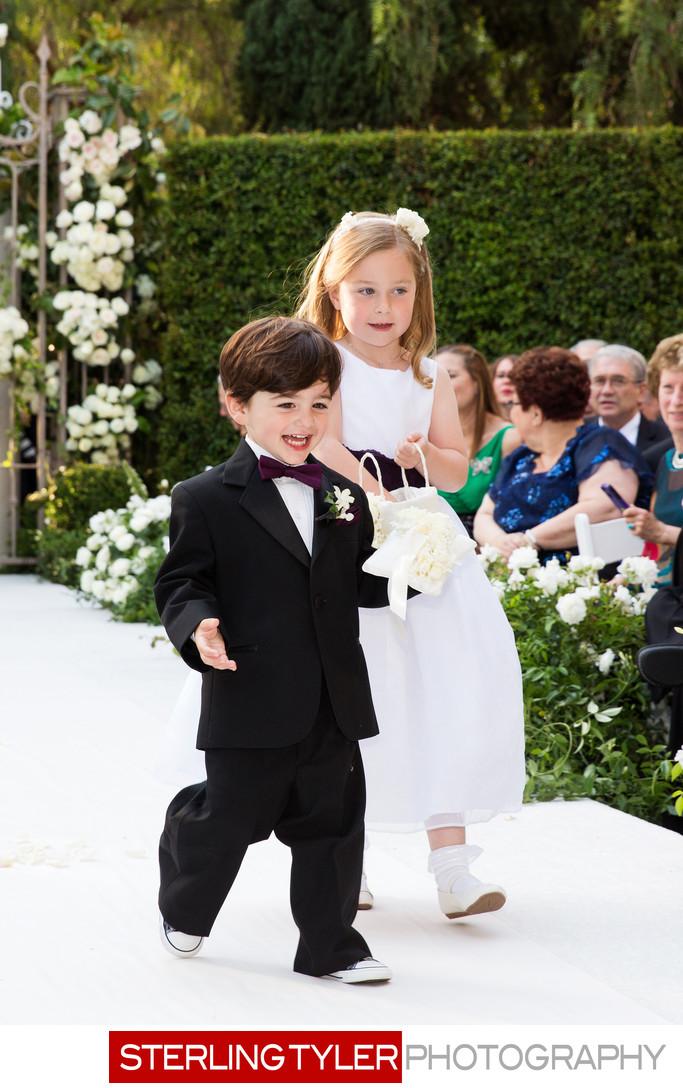 ring bearer and flower girl la wedding photographer