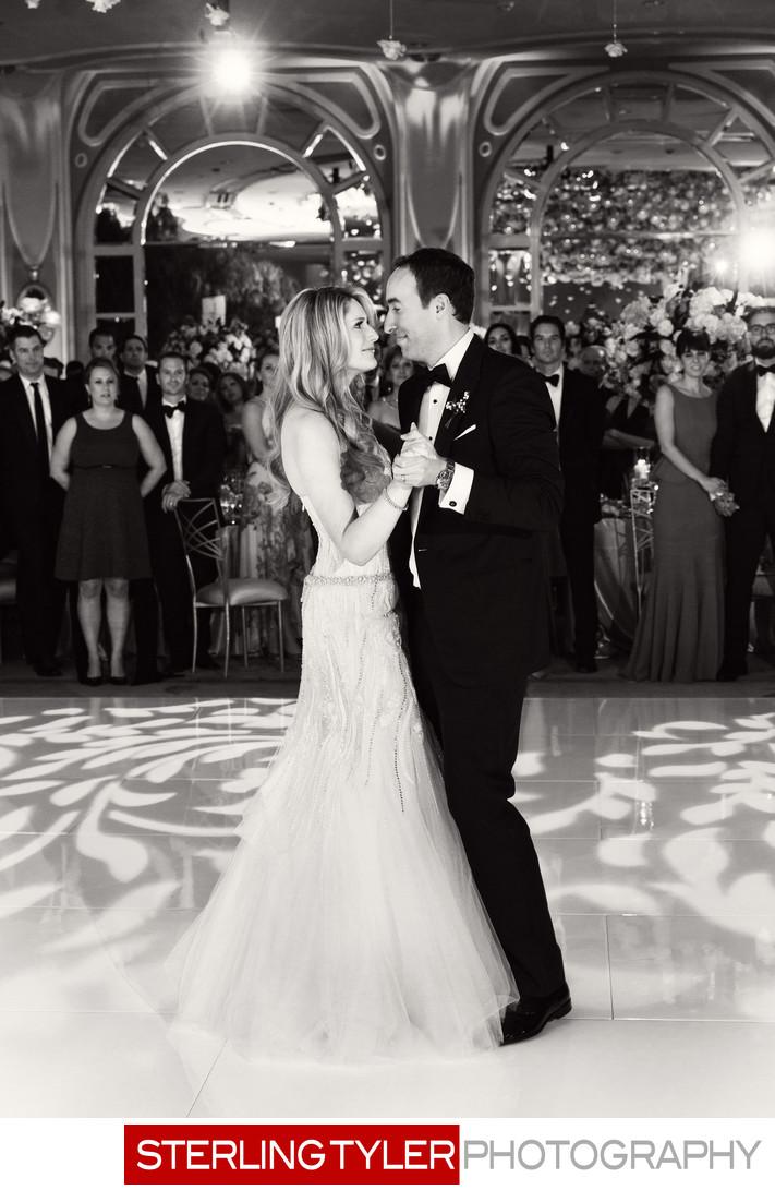 wedding first dance crystal ballroom candid photographer