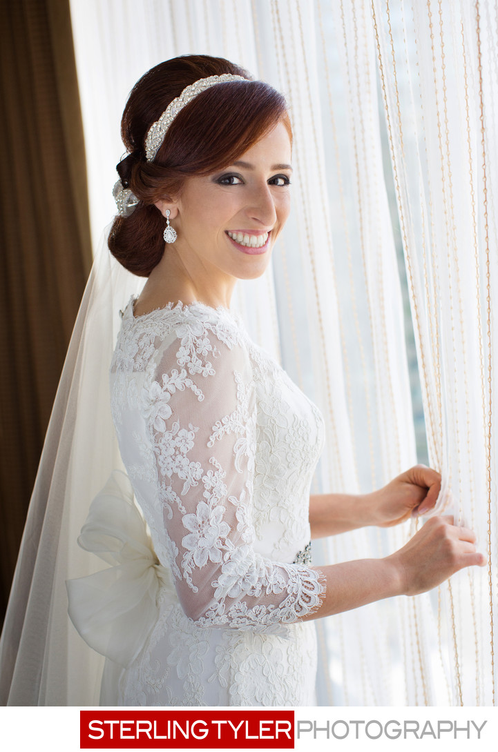 jewish bride portrait at sheraton universal hotel