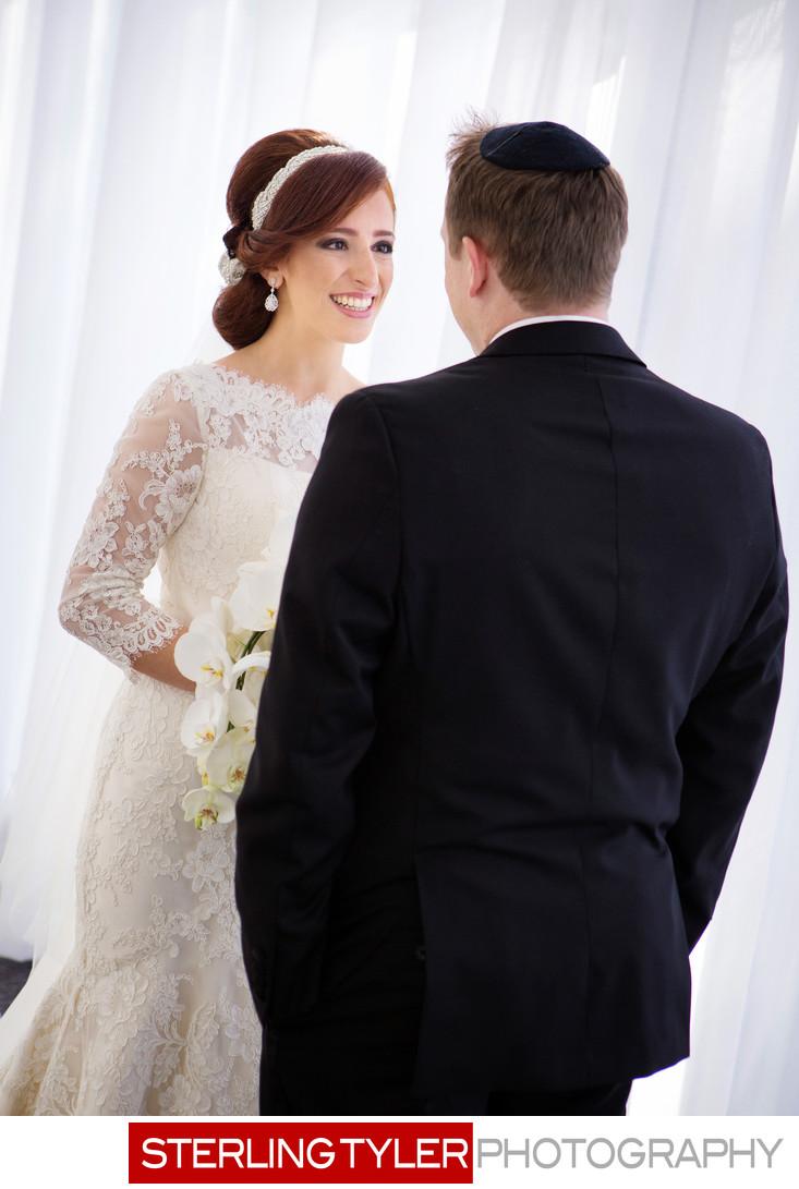 jewish bride and groom photojournalism at sheraton universal