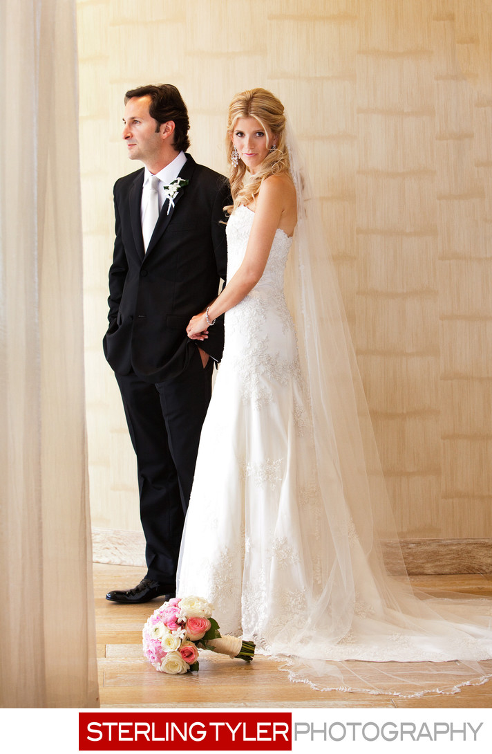 full length bridal portrait dana point marriott