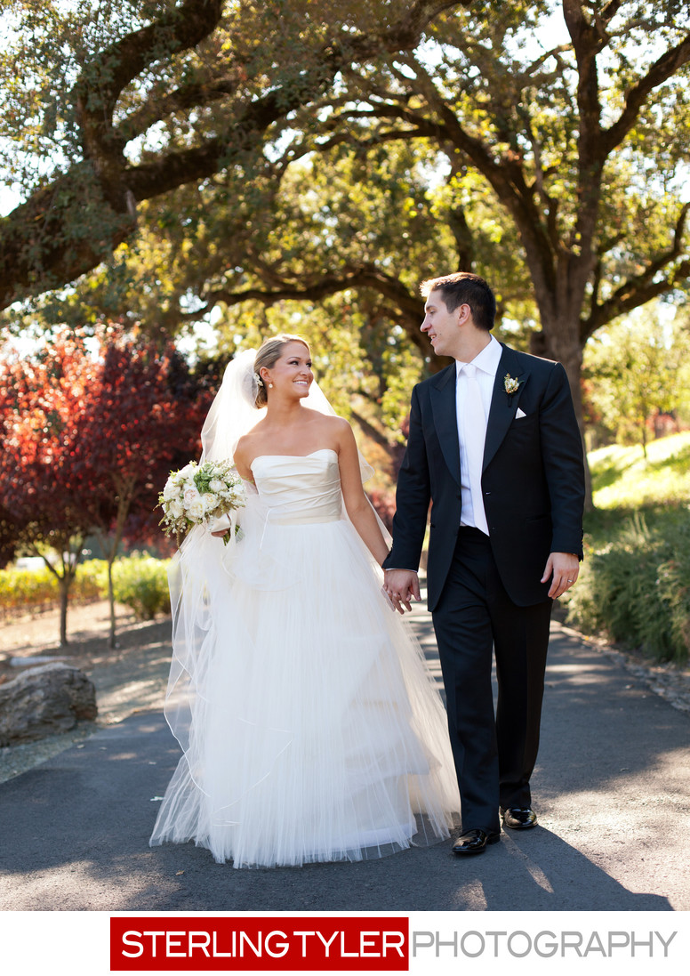 black swan estate wedding portrait with oak trees