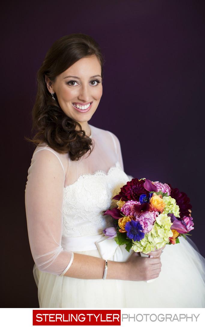 beverly hills wedding bride portrait