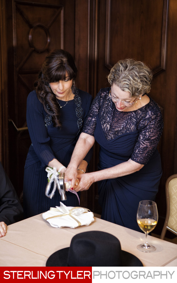 orthodox wedding mothers breaking plate