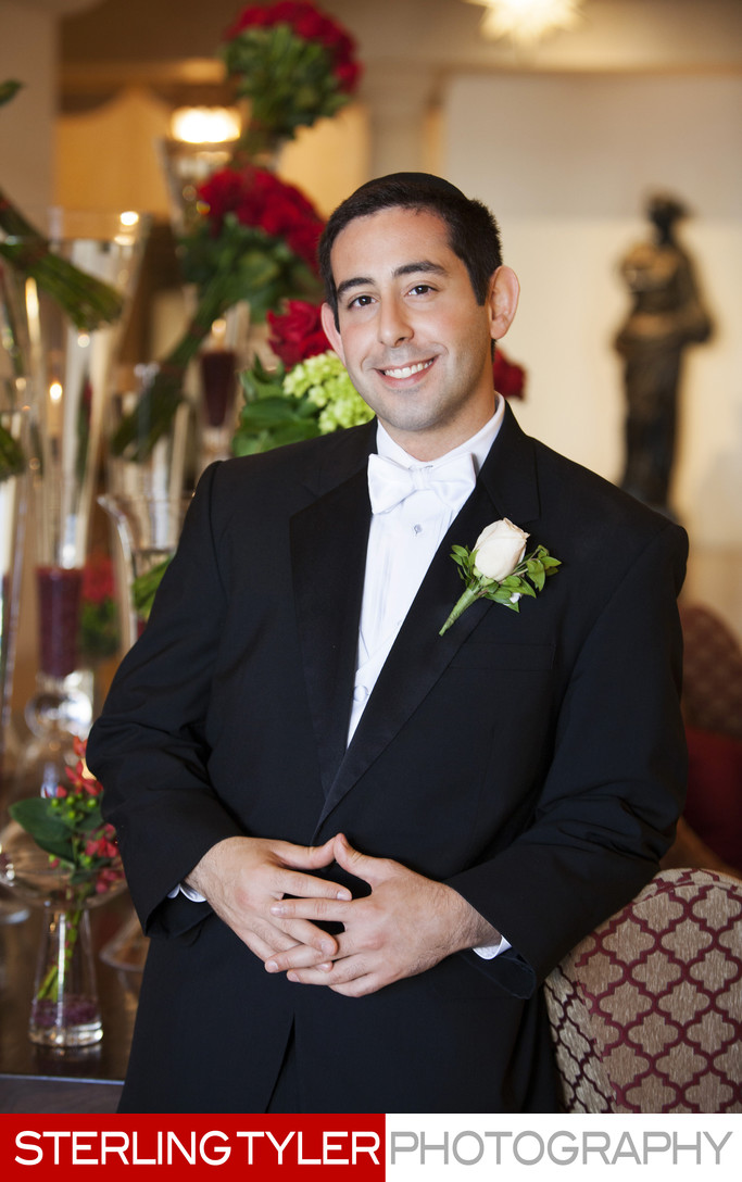 groom portrait at montage beverly hills