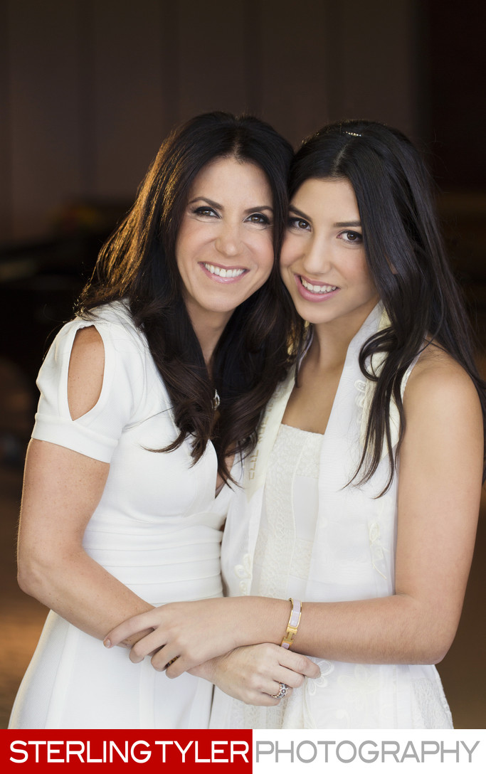 mother daughter bat mitzvah portrait