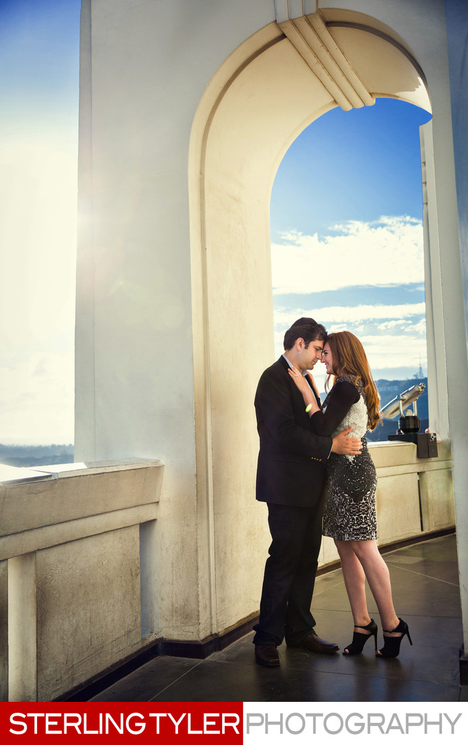 griffith observatory engagement portrait