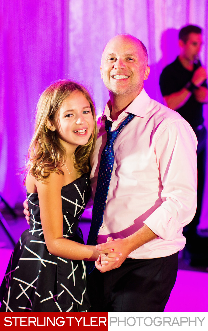 father daughter dance at bat mitzvah skirball center