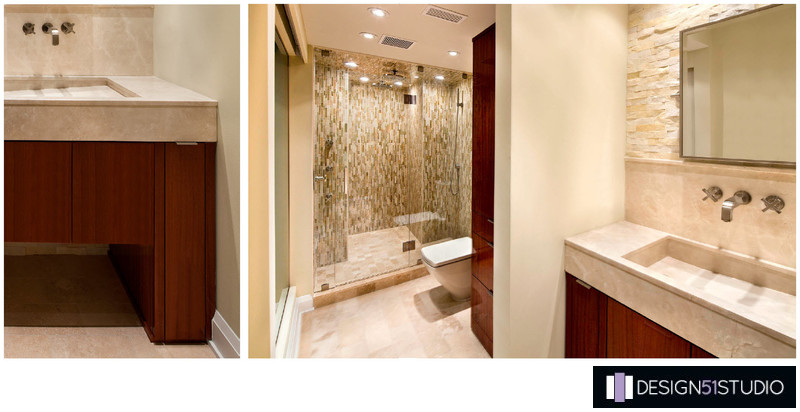 MODERN RIVERSIDE MASTER BATH - COLLAGE - HOLLY WIEGMANN - DESIGN 51 STUDIO